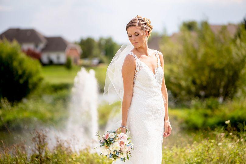 Bride on Golf Course