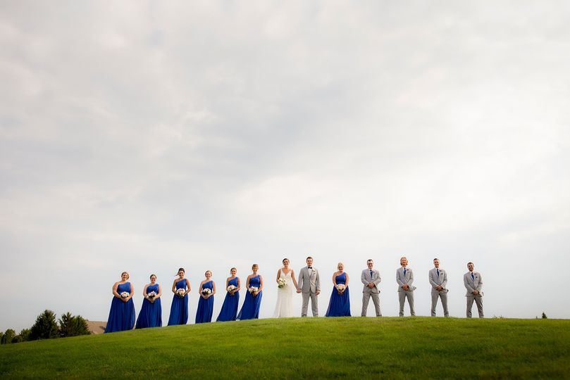 Bridal Party on Course