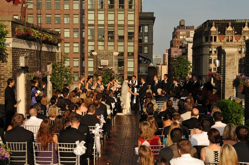 Midtown loft terrace wedding ceremony reception venue for Wedding venues near york