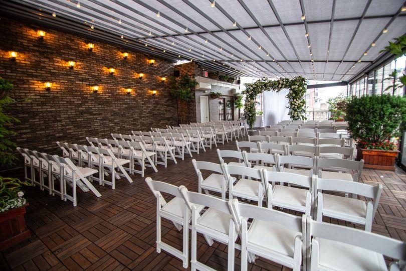 Ceremony setup on the terrace