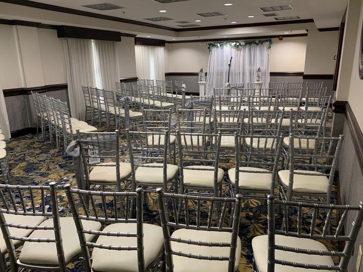 Mallard Room set ceremony