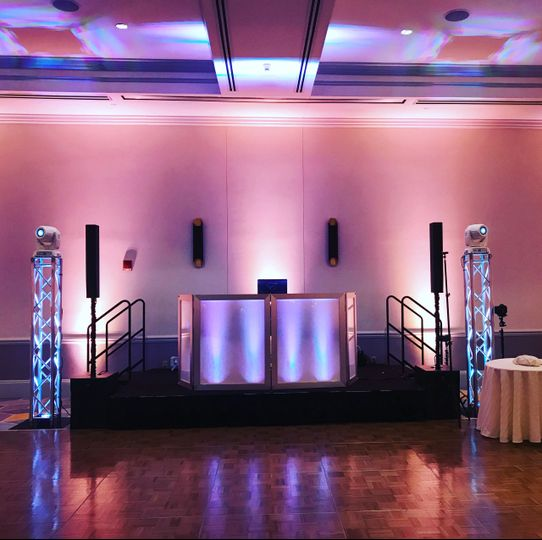 Main setup with intelligent Lighting and Uplighting