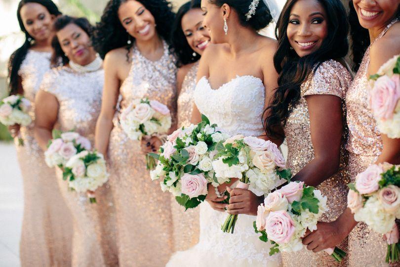 Dainty wedding bouquets