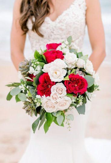 Fresh wedding bouquet