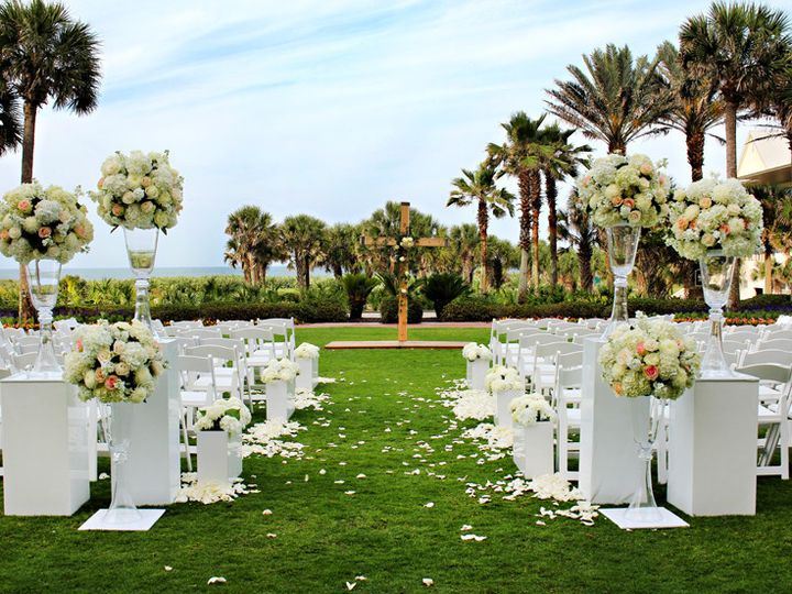 Tmx 1404422493278 Back Aisle Floral Arrangements  Wooden Cross Daytona Beach, Florida wedding florist