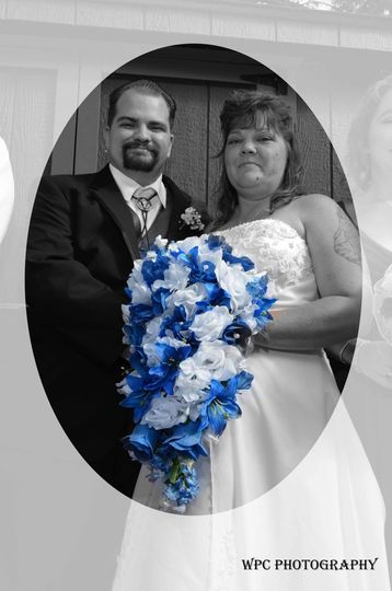 Special effect wedding photo