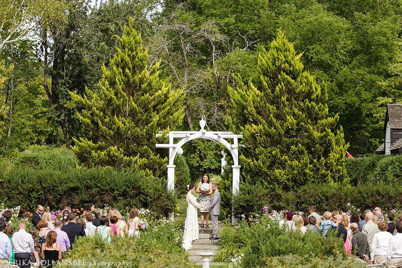 Ceremony in the garden...