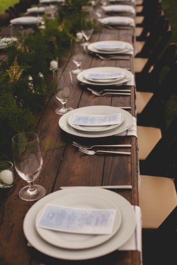 A classic farm table
