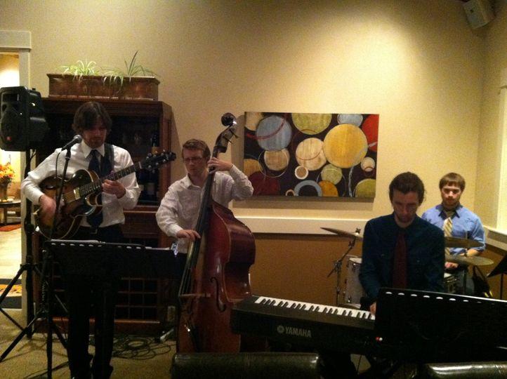 The Michael Radliff Quartet providing music for a wedding reception in Salem, OR