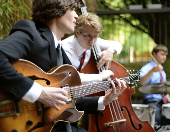 The Michael Radliff Quartet providing music for a wedding reception in Eugene, OR
