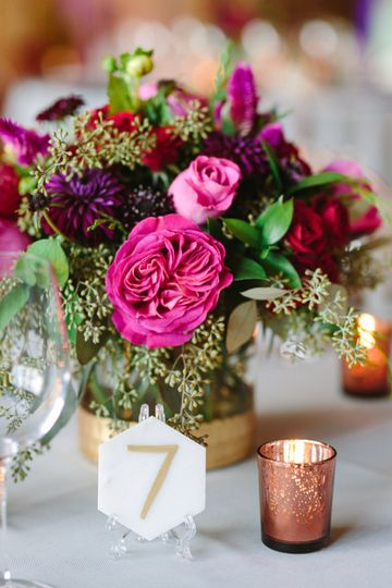 Jewel tone centerpieces