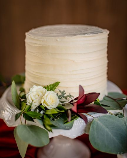 Fresh Florals on Cake