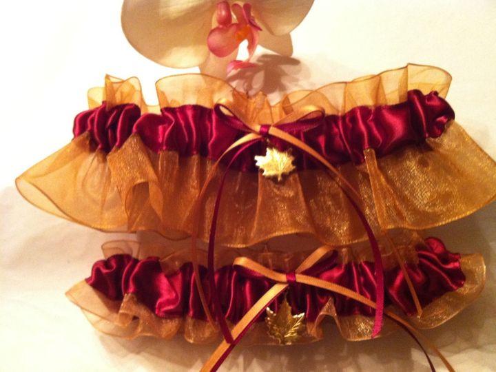 Tmx 1380828770638 Sheer Gold  Burgundy Leaf Set Carle Place wedding dress
