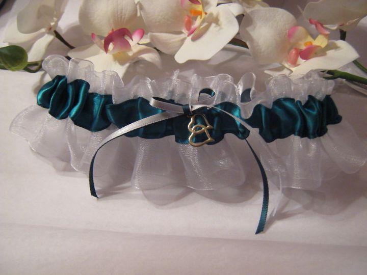 Tmx 1380828837585 Teal  White Keepsake Carle Place wedding dress