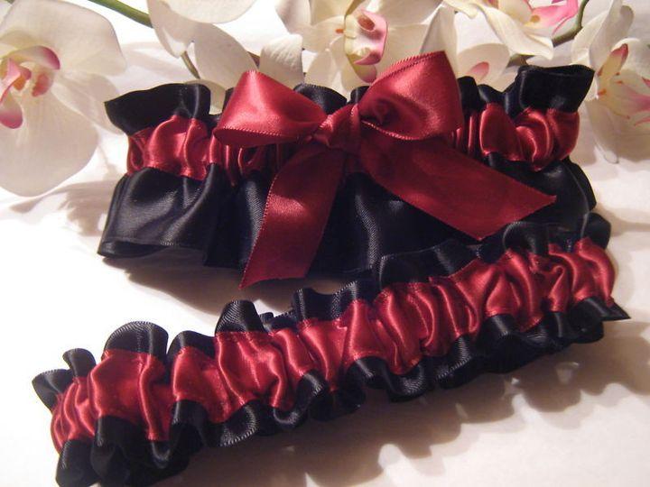 Tmx 1380828922892 Black  Burgundy Big Bow All Satin Set Carle Place wedding dress