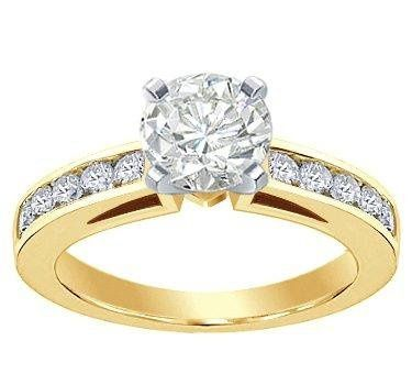 Engagement Ring with Channel-Set Diamonds