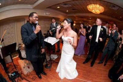 the bride singing along!