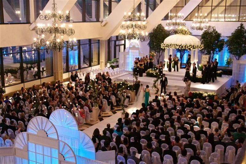 wedding ceremony garden court