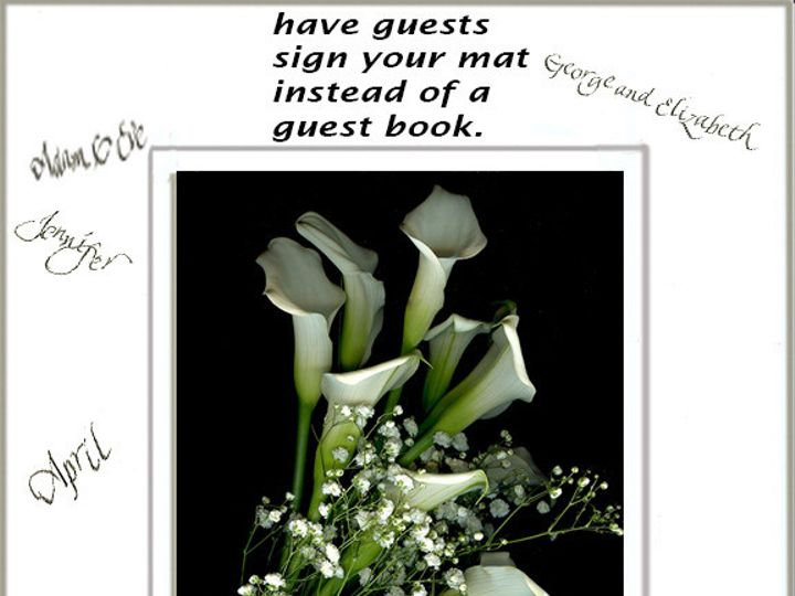 Tmx 1434485957950 Signedwhite8x10dmcorrected York wedding florist