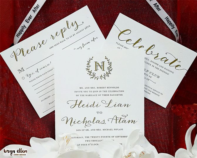 happily ever after invite with logo