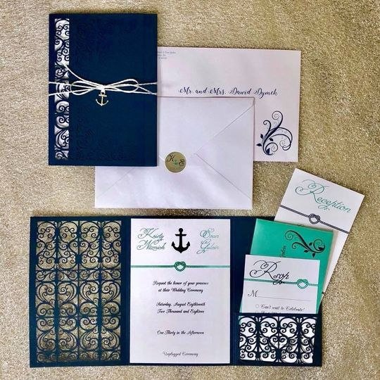 Nautical themed stationery