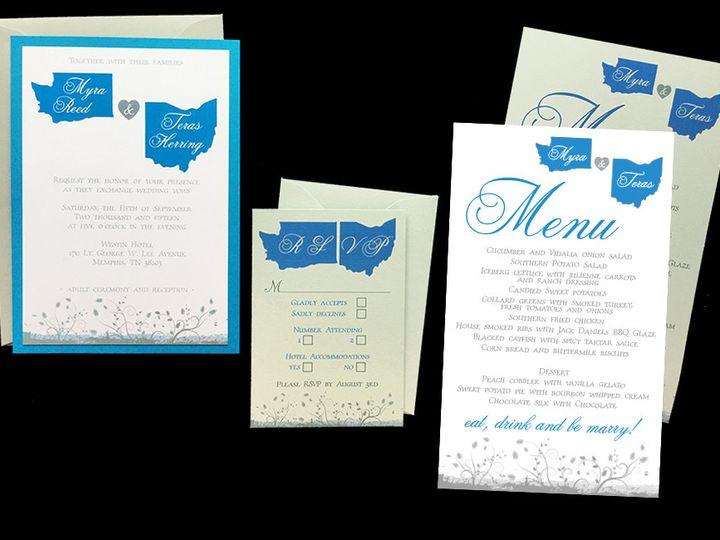 Tmx 1465102289079 Myra And Teras Inv Menu Cleveland, OH wedding invitation