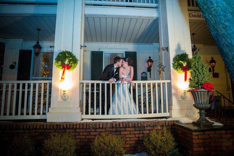Couple portrait at the balcony