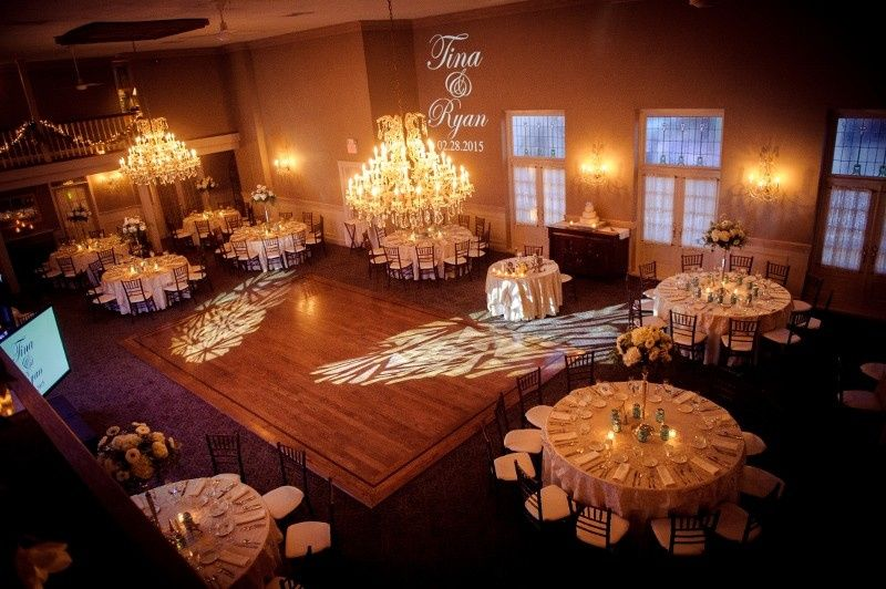 Two story ballroom holds up to 200 guests
