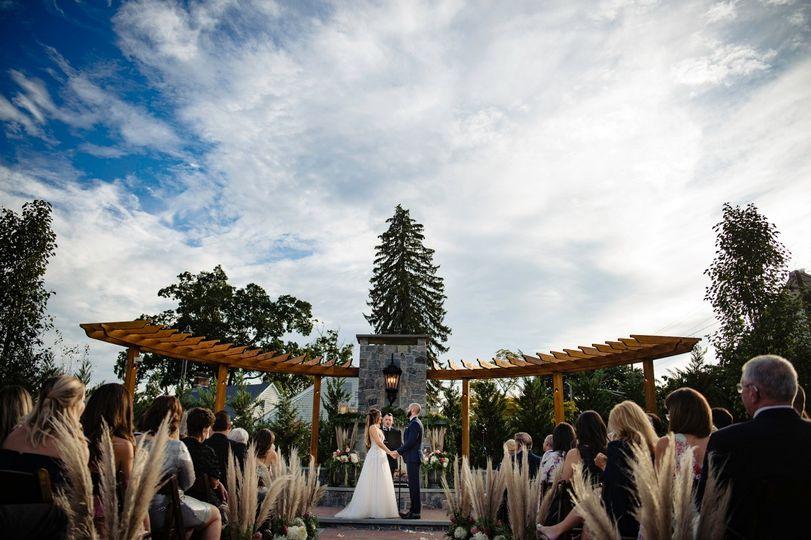 Onsite outdoor ceremony