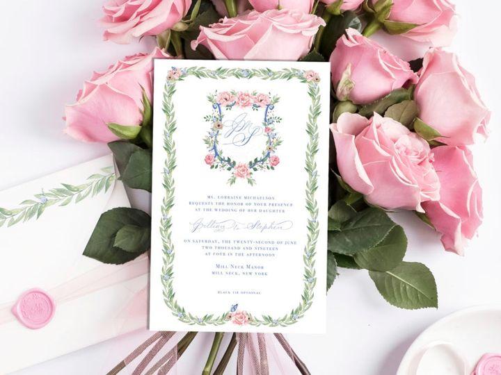 Tmx Watercolor Invitation Jm Layout Closeup 1024x684 51 782840 1568052228 Oyster Bay, NY wedding invitation