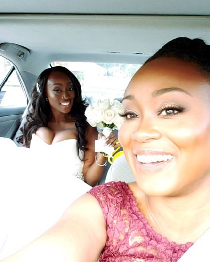 The bride with a friend
