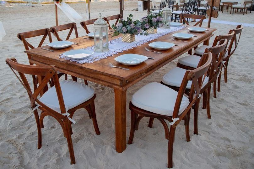 Rustic Table, Crossback