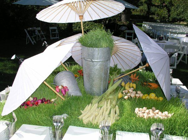 Wedding Stationary Hors D'oeuvres - A Crudite Garden