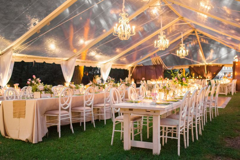 Tent reception area