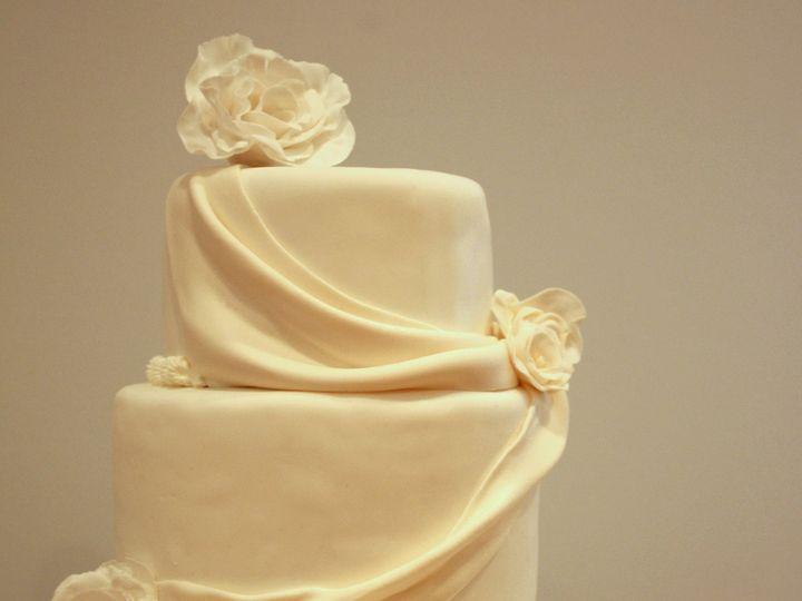 Tmx 1375373515181 3 Tier Drape Cake With Flowers Rockville, MD wedding cake