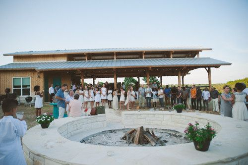 Fire Pit and Pavilion at Hill Country Casitas