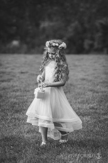 Classic flower girl