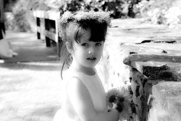 Flower Girl, taken at wedding in Clemson SC.