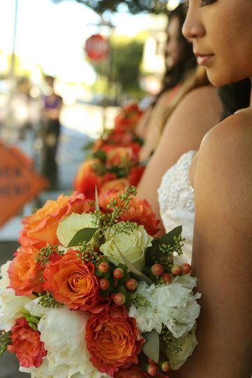 Bride's Bouquet Close Up