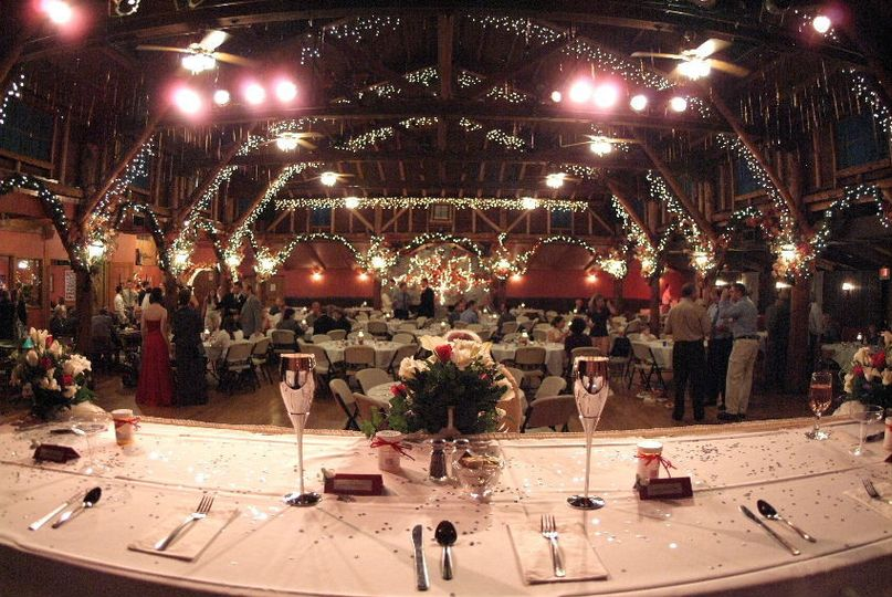 wine glass view of wedding