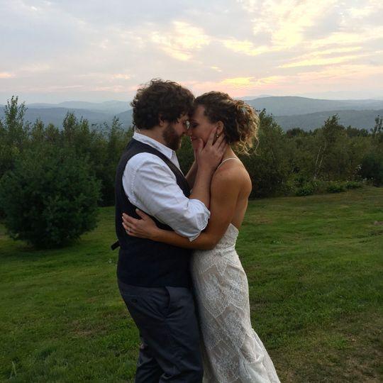 Bride and Groom Maine Mountain Weddings