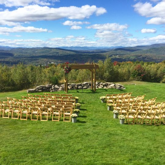 View from the wedding arbor