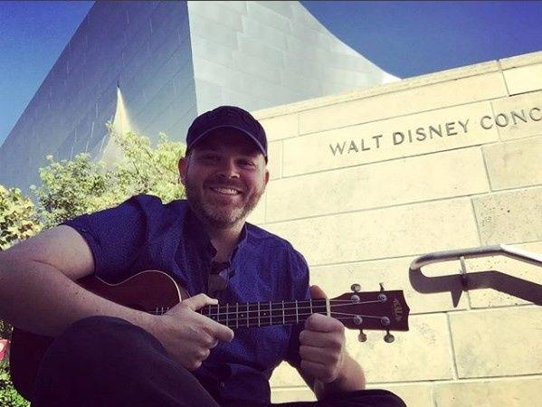 Johnny with his ukulele
