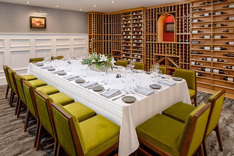 Blue Morel Private Wine room