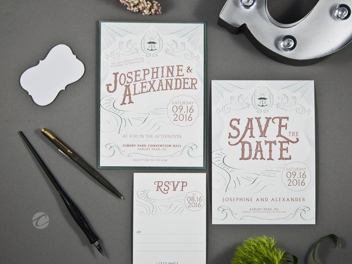 Tmx 1493409484967 Asburypark4 New Hampton wedding invitation