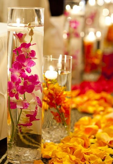 Floral and candle decor