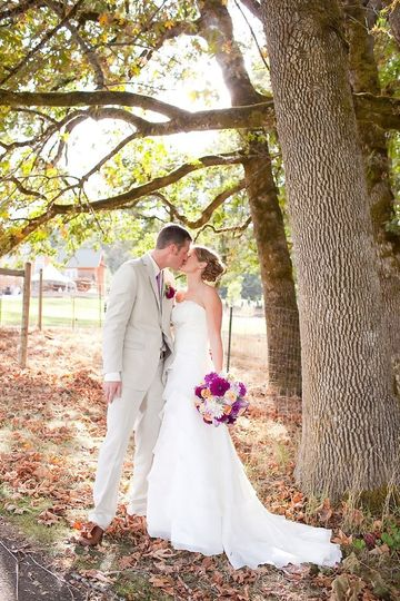 couple under the trees