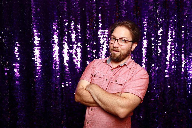 Purple Sequin Backdrop