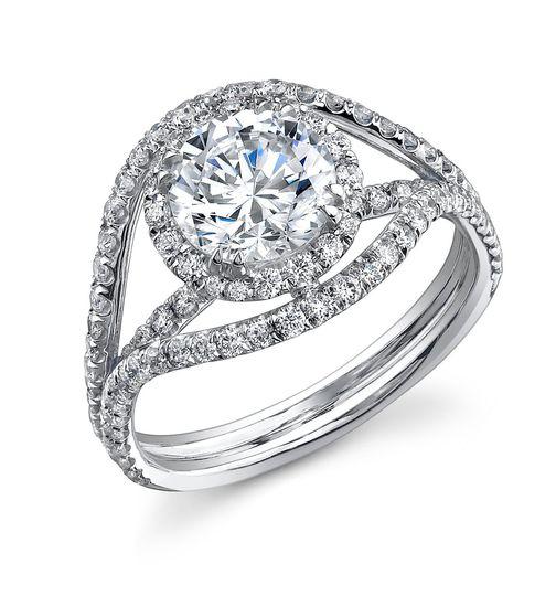 uniquediamonddesignerengagementmountingringhalowraparoundshankDTC201P