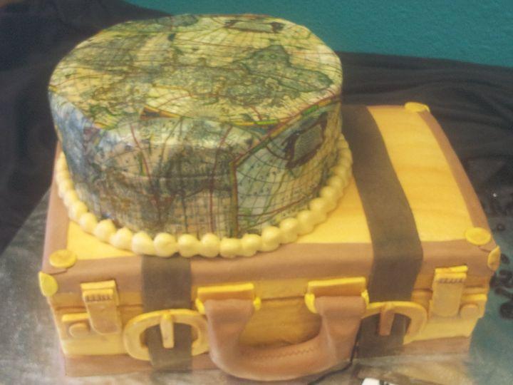 Travel inspired cake